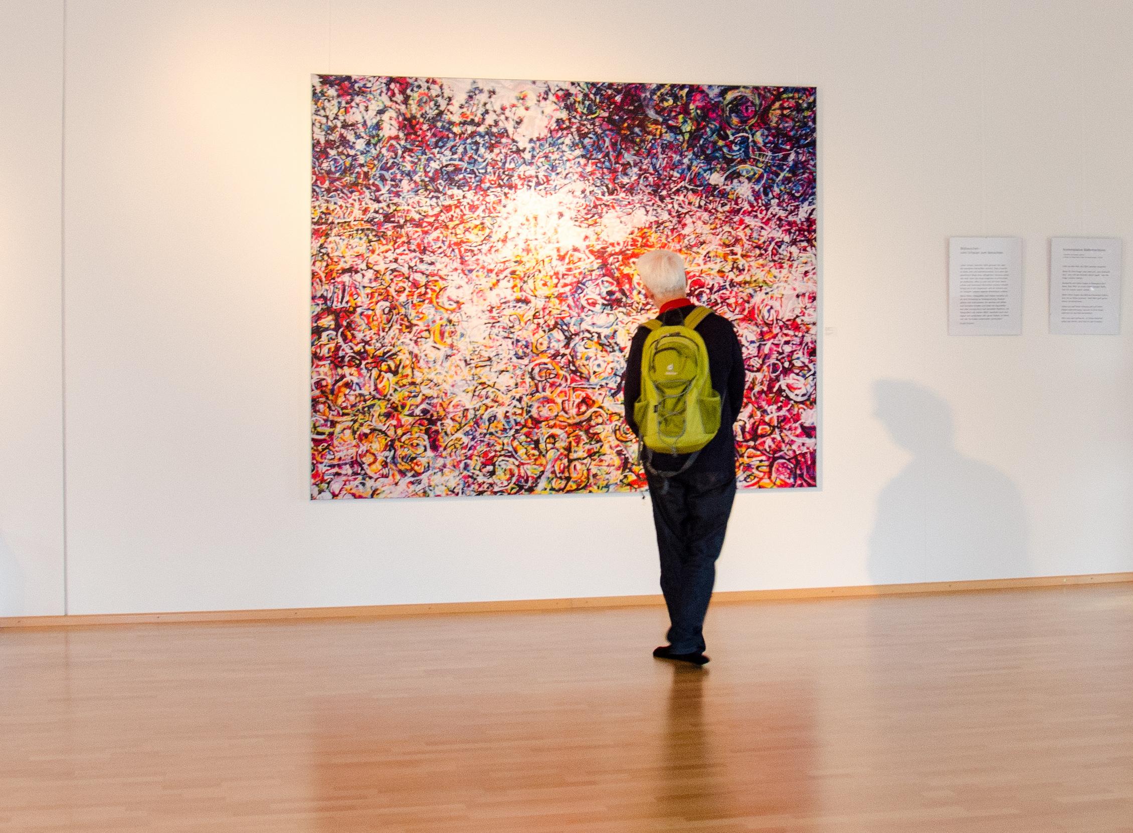 """Bildrauschen """"Sich zeigen und wachsen"""" (2015) 250 x 200 cm, Vernissage Dance Spirit"""