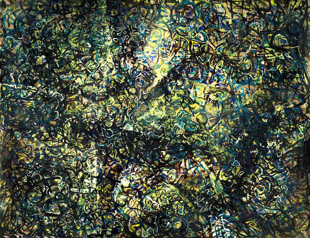 """Bildrauschen """"Vom Licht berührt"""" (2015), 250 x 200 cm"""